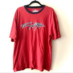 Tommy Hilfiger Spellout Cursive Mens T-Shirt XL